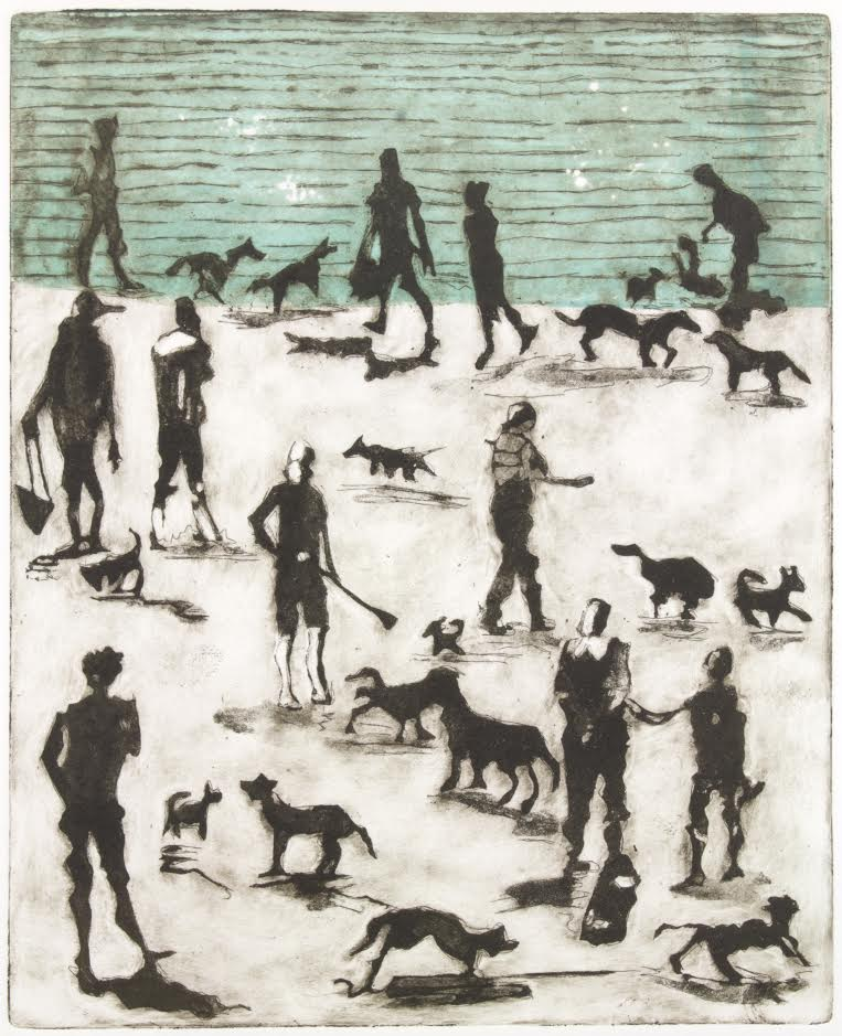 Beach dogs, Sally Friend, Artist
