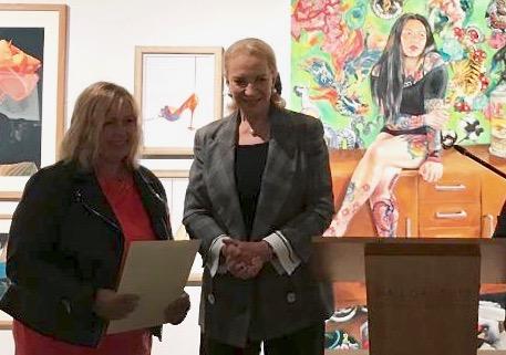 Sally Friend, Artist with Princess Michael of kent